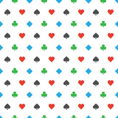 Four-color poker suits pattern