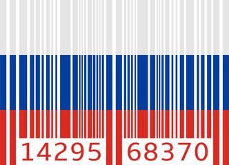 bar code flag russia