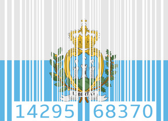 bar code flag san marino