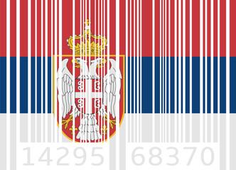 bar code flag serbia