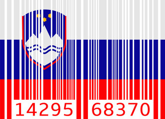 bar code flag slovenia