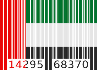 bar code flag united arab emirates