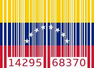bar code flag venezuela