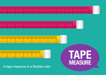 tape measure, vector illustration