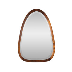Oval Mirror - wood