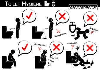 Toilet Hygiene ( Stick man vector )