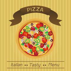 Italian Tasty Pizza Menu