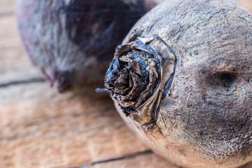 Boiled beets closeup