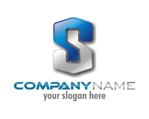blue gray black s logo image symbol icon vector