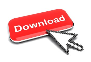Download button and arrow cursor