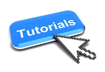 Tutorials button and arrow cursor