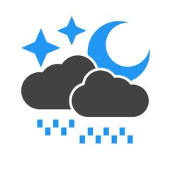 Rainy cloud with moon