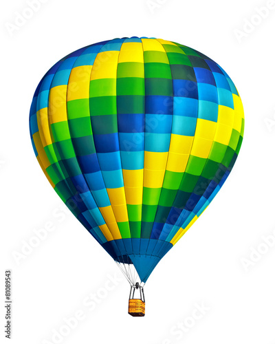 Hot air balloon isolated on white background - 81089543