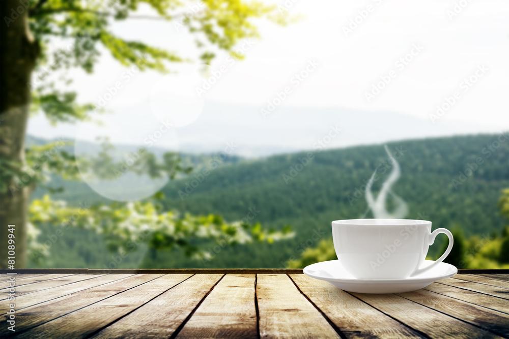 stół drewno herbata - powiększenie