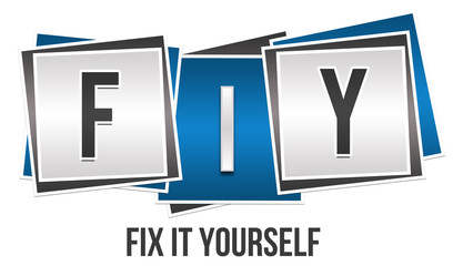 FIY - Fix It Yourself Blue Grey Blocks