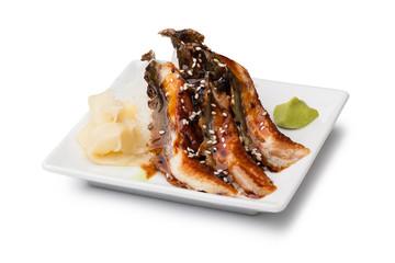 smoked Eel sashimi