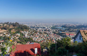 Skyline of Antananarivo Madagascar