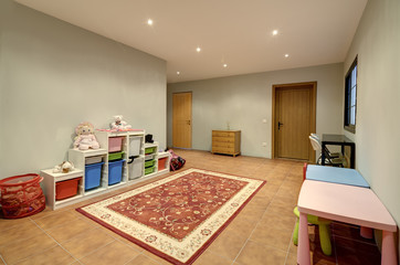 Play room in the modern villa