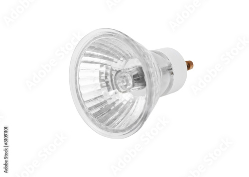 One halogen lamp, isolated on white background - 81091101