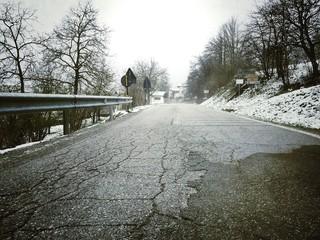 la strada verso Battifollo
