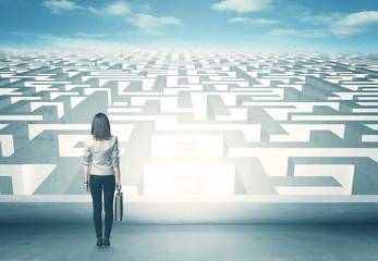 looking at labyrinth