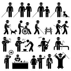 Blind Man Handicap Cliparts