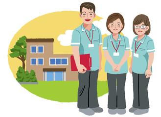 福祉士 福祉施設 Friendly caregivers with retirement home