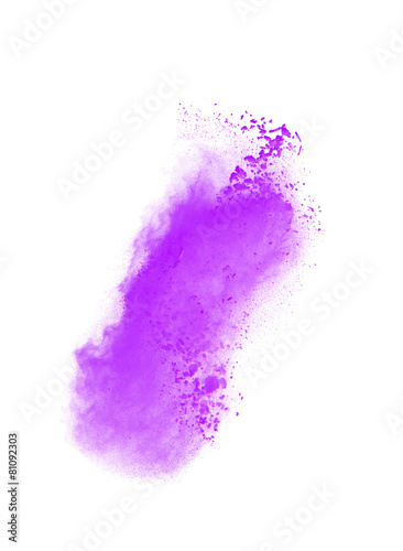 Abstract design of white powder cloud isolated on black - 81092303