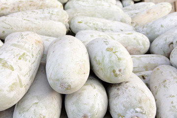 pile of muskmelon in local market, thailand