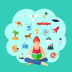 Reading Concept Illustration