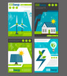 Eco energy icons poster - 81093525