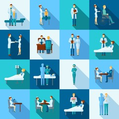 Doctors Icons Set