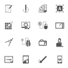 Graphic Design Black Icons