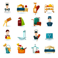 Hotel Maid Icons