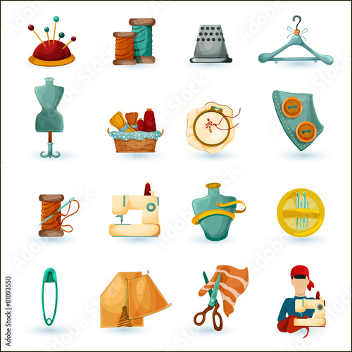 Sewing Icons Set - 81093550