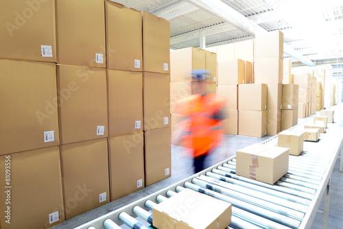 Leinwanddruck Bild versenden von Paketen im Onlinehandel