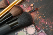 brushes on eye shadows palette - 81094340