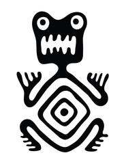 monster in native style, vector illustration
