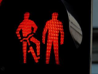Ampel für Fußgänger und Radfahrer