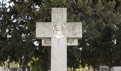 Religious cross on a grave