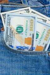 dollar money in pocket