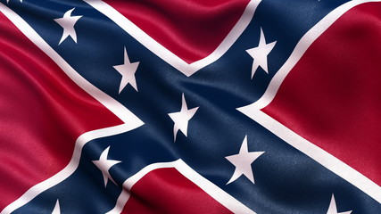 Confederate Battle Flag seamless loop