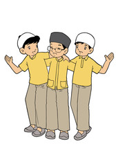 Group of Muslim Little Boys