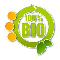 100 Prozent Bio - Sticker - Button