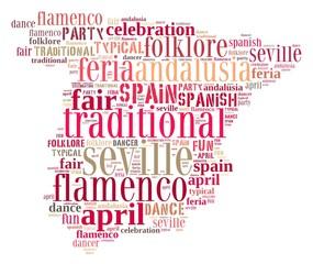 Fair on April in Seville.
