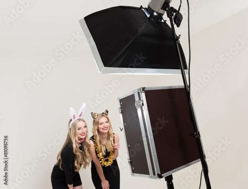 Leinwandbild Motiv Photobooth im Einsatz