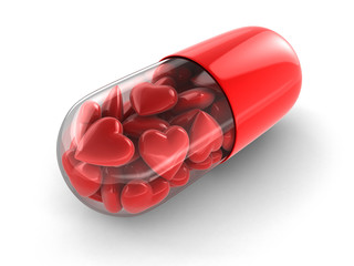 Love pill (clipping path included)