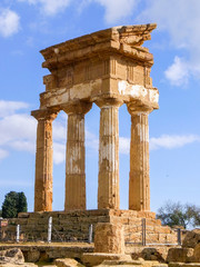 The temple of Dioscuri in Agrigento