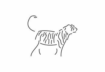 tiger logo icon template