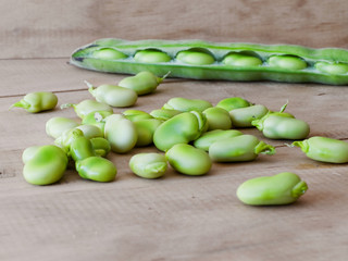 Broad beans.